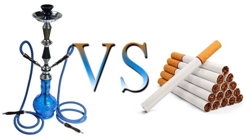 что вреднее кальян или сигареты