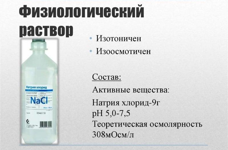для чего ставят капельницу хлорид натрия