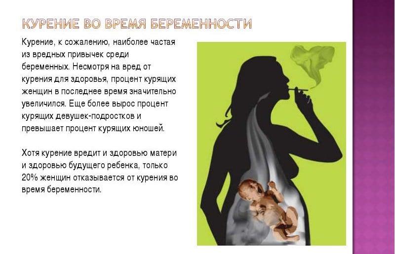 Вред от курения беременных 1024