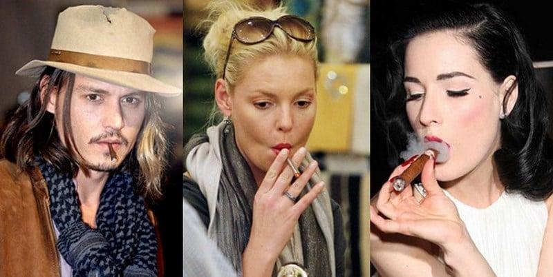 курящие знаменитости
