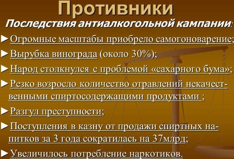 сухой закон в СССР