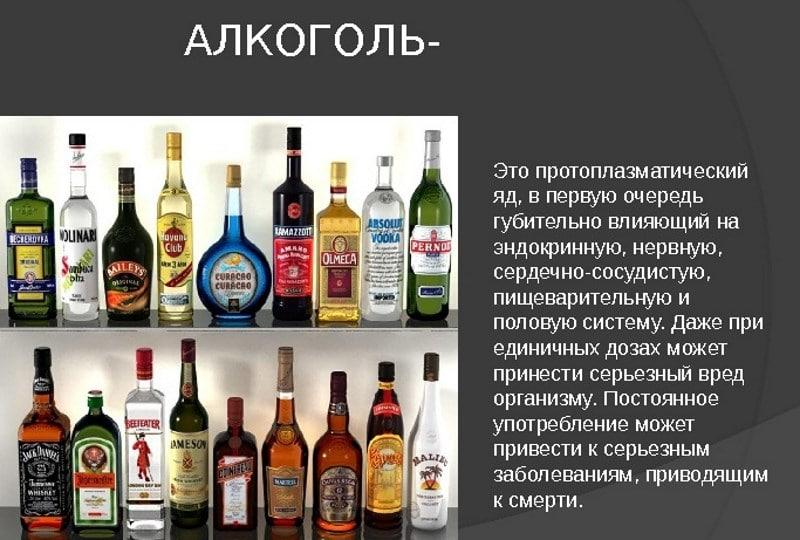 список крепких алкогольных напитков