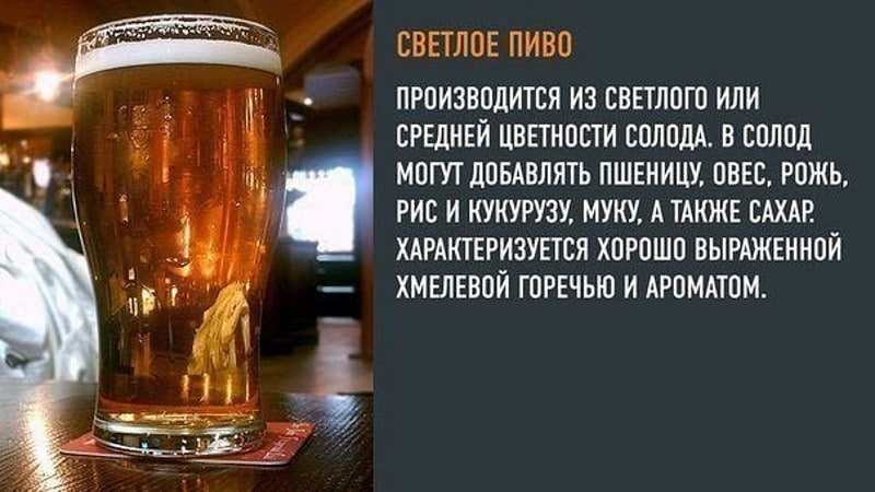 разница светлого и темного пива
