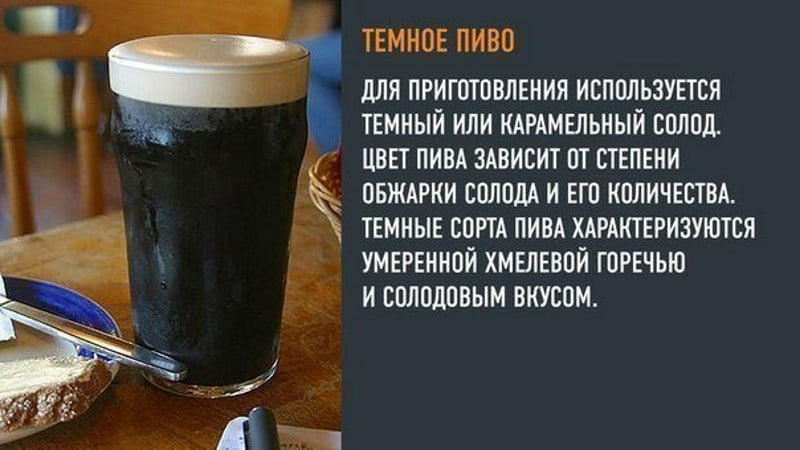 отличие светлого пива от тёмного