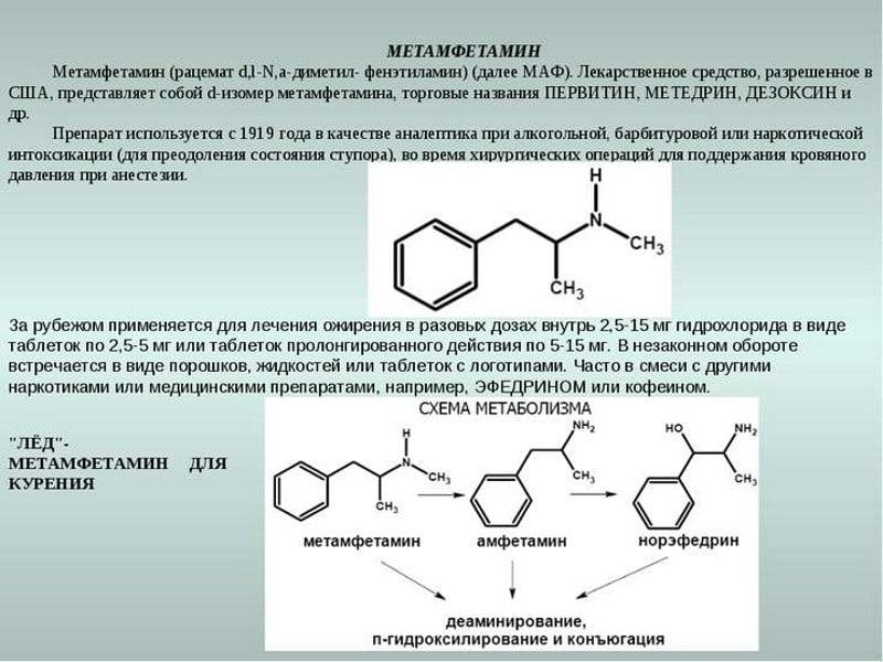 действие метамфетамина