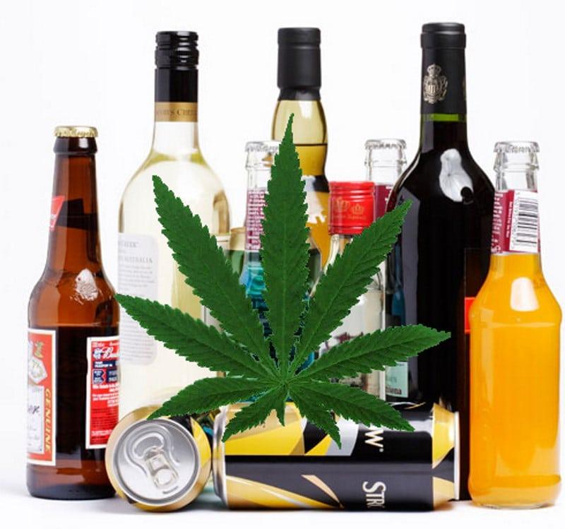 что вреднее трава или алкоголь