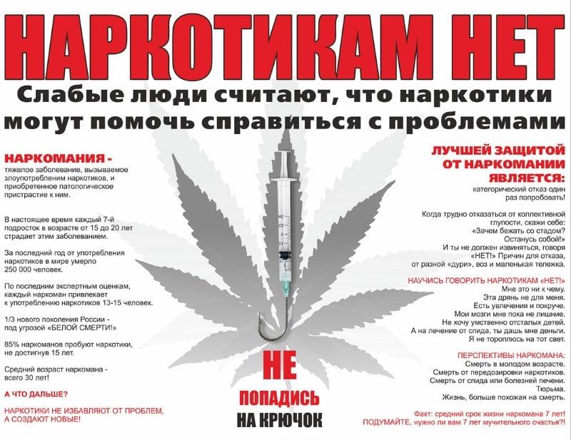 беседа о вреде наркотиков