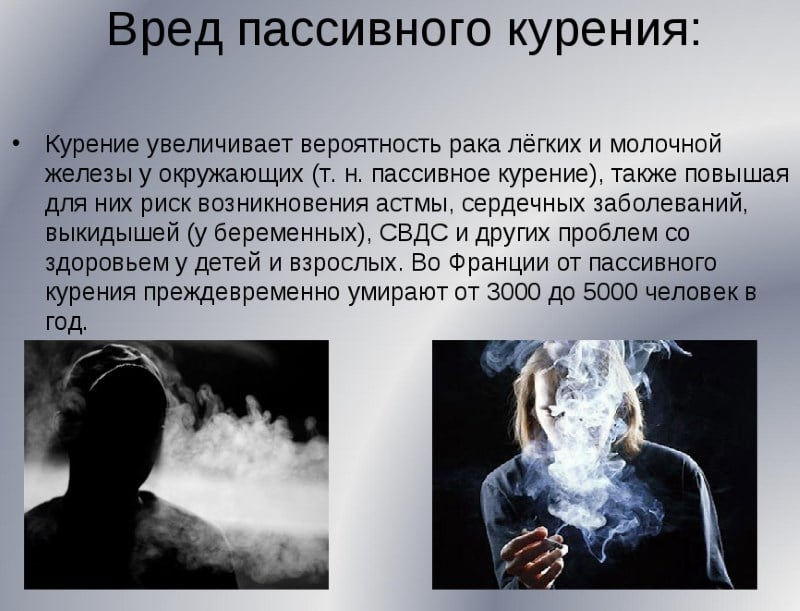 курение пассивное при беременности