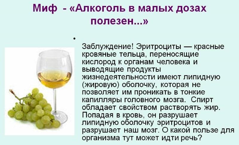 полезен ли алкоголь в малых дозах