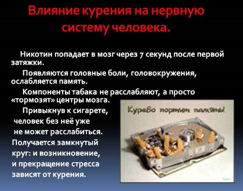 вред курения на организм мужчины