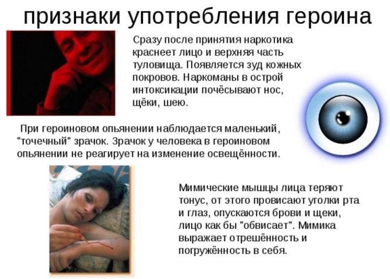 симптомы героиновой зависимости