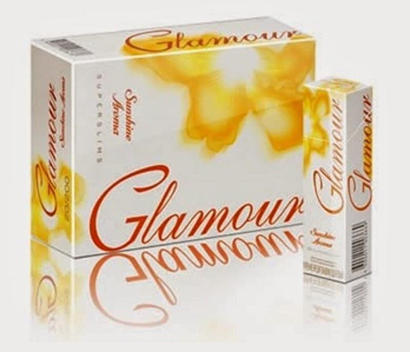 желтые сигареты Гламур