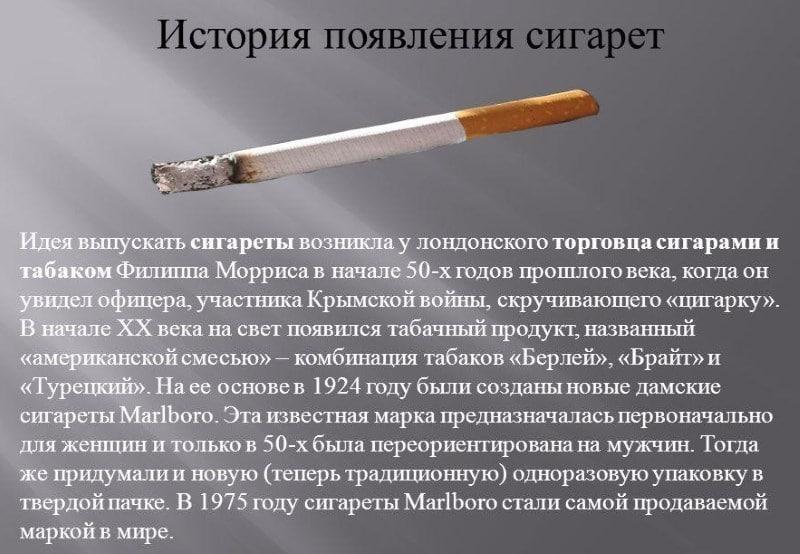список крепких сигарет