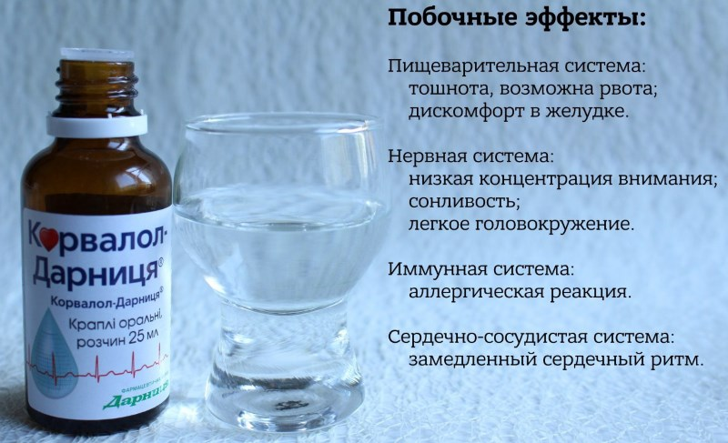 можно ли принимать Корвалол после алкоголя
