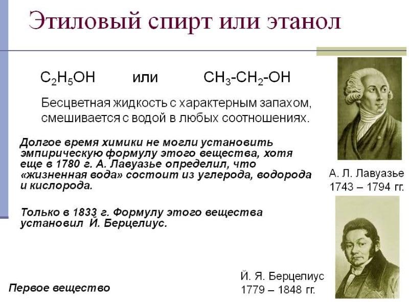 формула питьевого этилового спирта