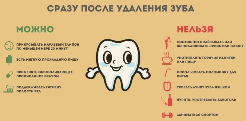 через сколько можно пить алкоголь после удаления зуба