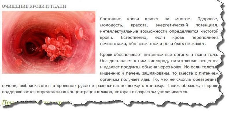 как почистить кровь