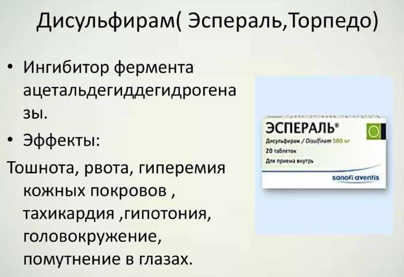 срок действия Дисульфирама внутривенно