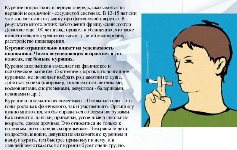 курение подросток