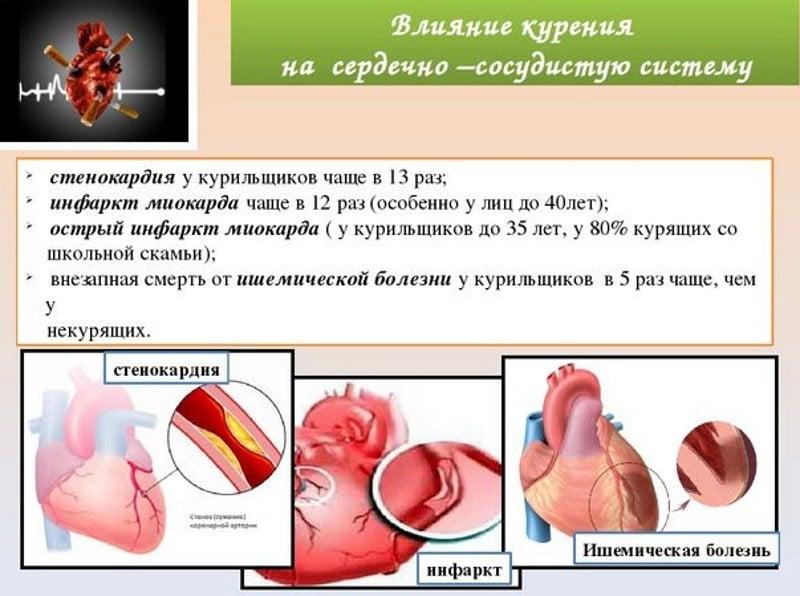 влияние никотина на сердце