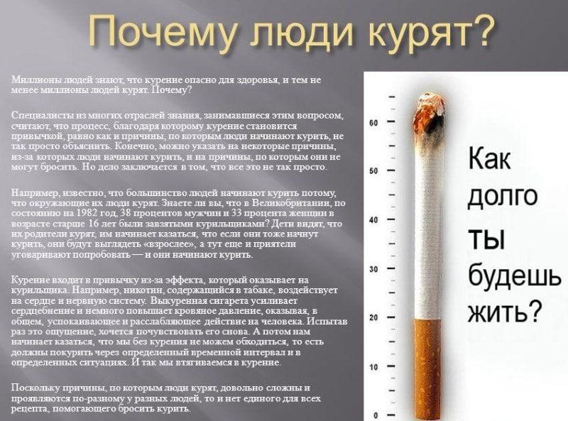 узнать что человек курит сигареты