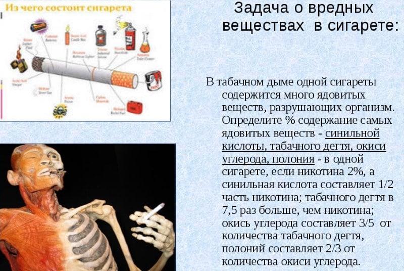 вред от одной сигареты в день