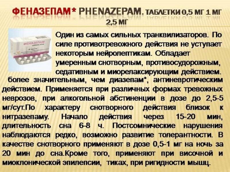 вызывает ли привыкание Феназепам