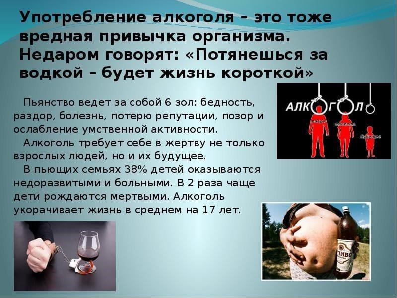 алкоголь как вредная привычка