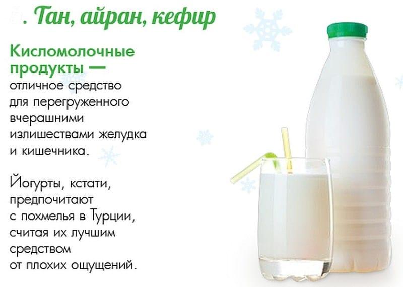 можно ли пить кефир после алкоголя