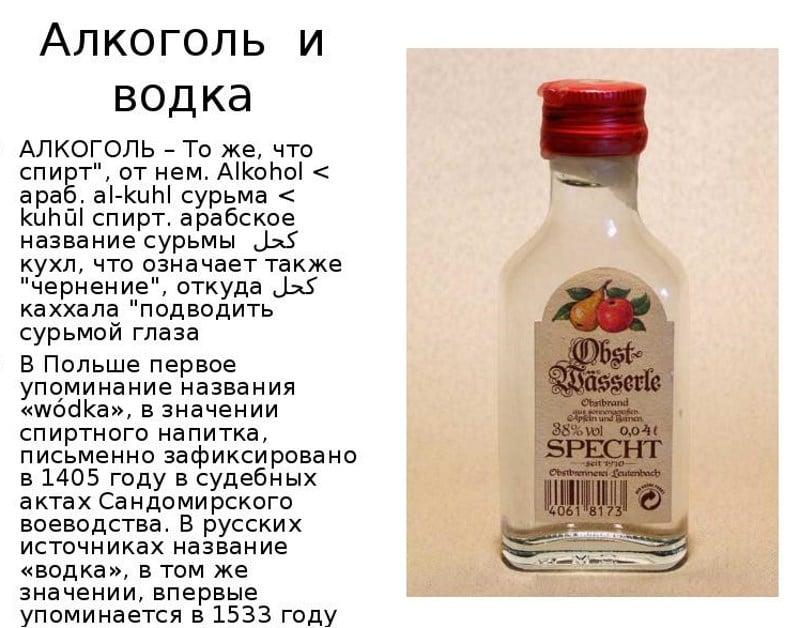 кто изобрел водку